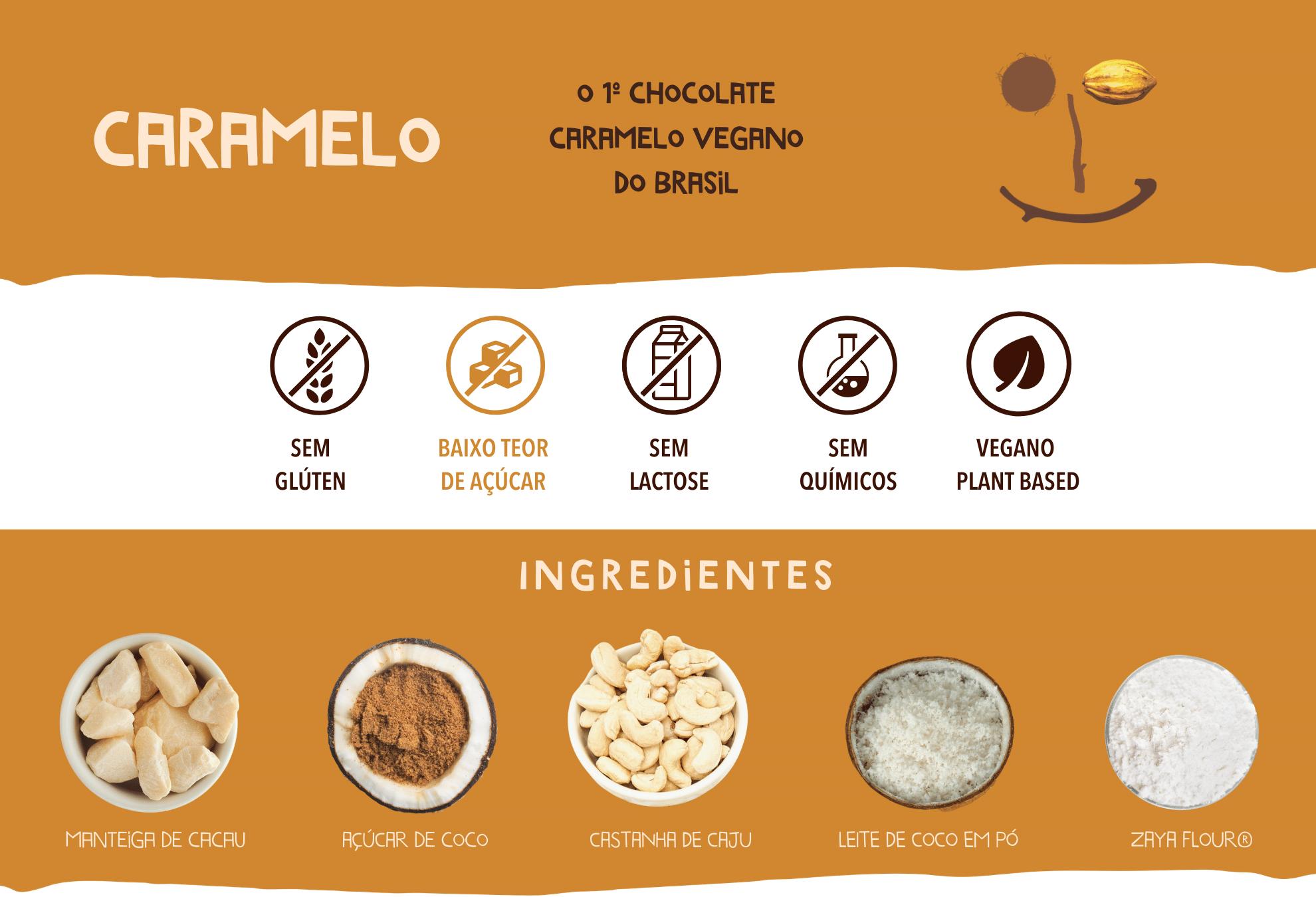 chocolate caramelo cookoa ingredientes