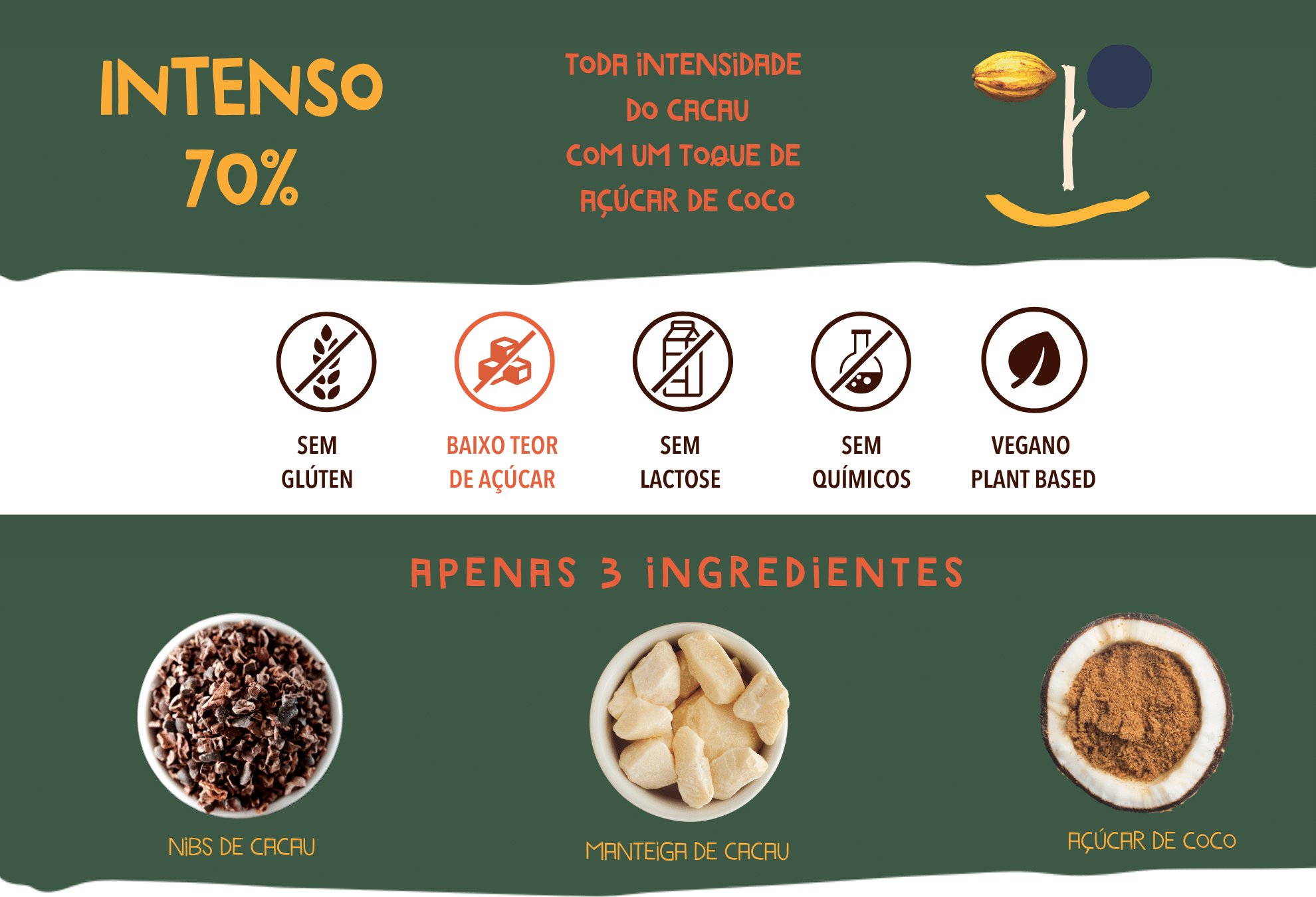 chocolate intenso 70 cookoa