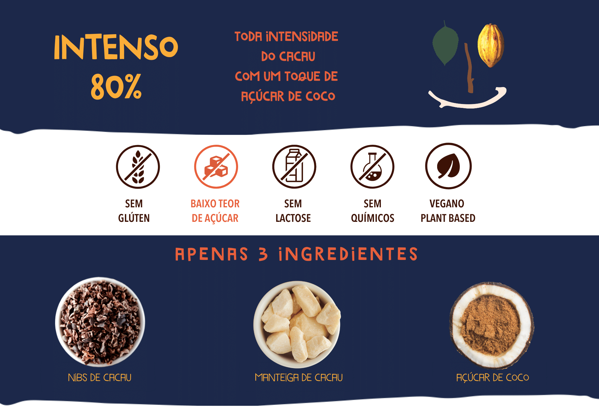 chocolate intenso 80 cookoa
