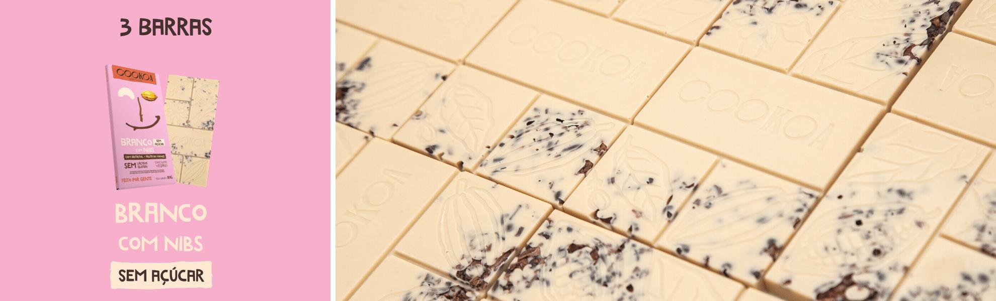 cookoa branco com nibs sem acucar