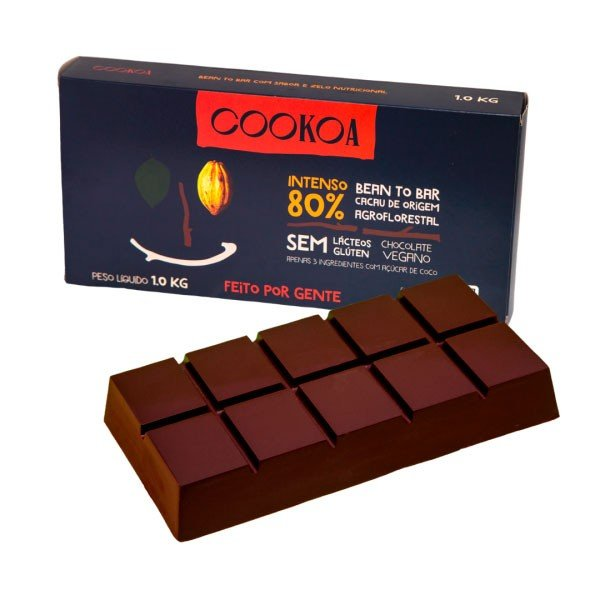 barra de chocolate intenso 80 1kg cookoa