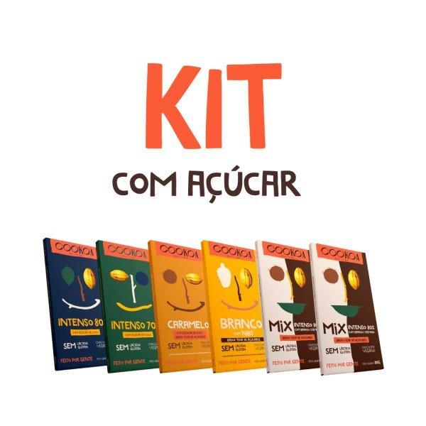 kit chocolates com acucar 80g cookoa
