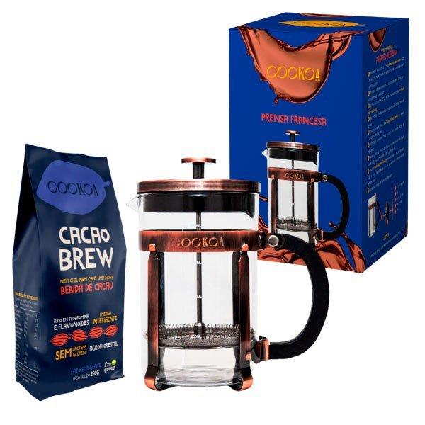 kit prensa francesa cacao brew cookoa