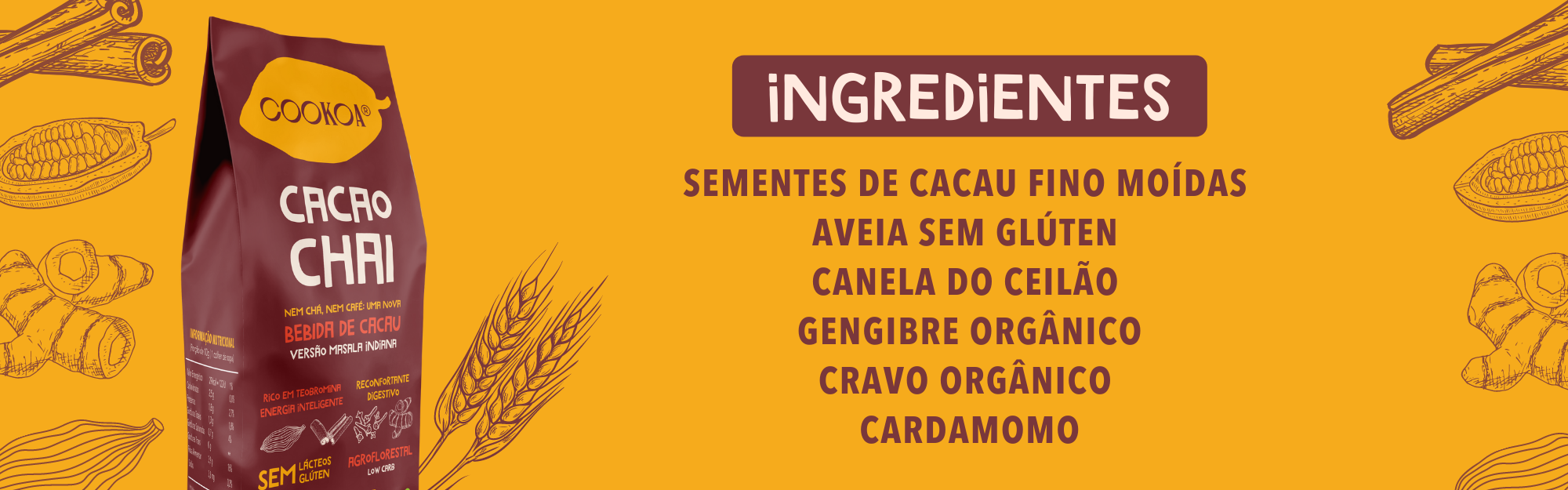 ingredientes cacao chai coooka