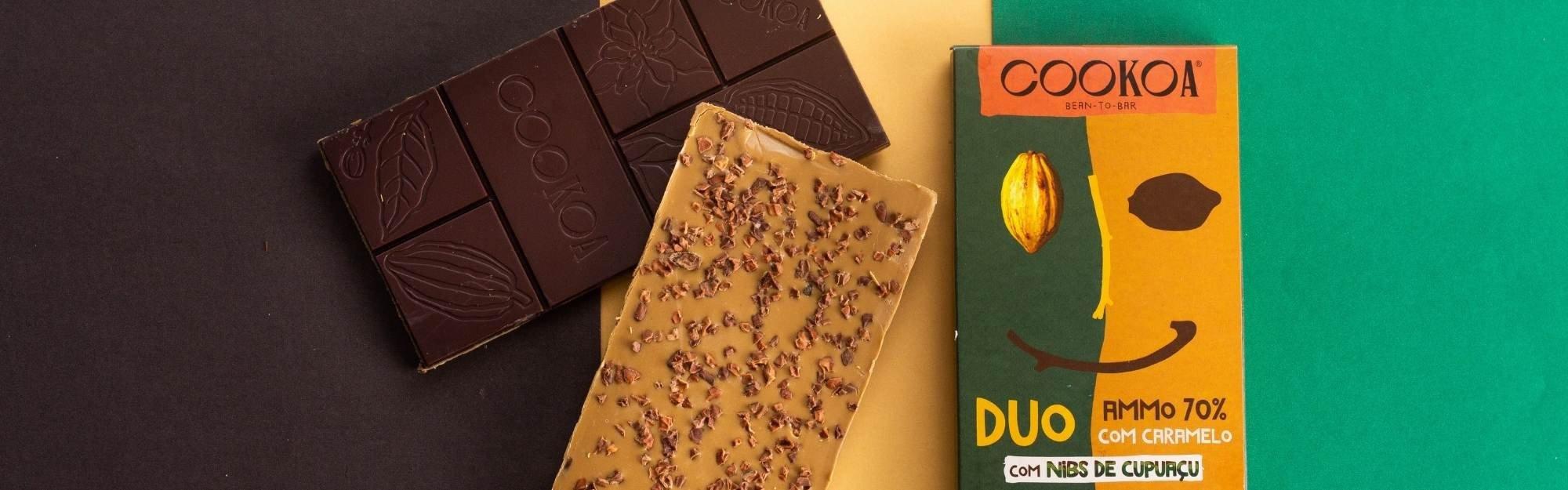chocolate duo caramelo cookoa